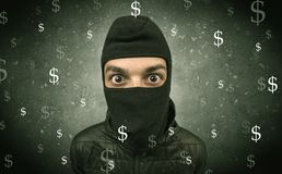 Money hungry thief. Royalty Free Stock Image