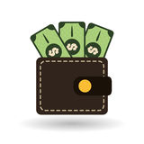 Money icon design Stock Photos