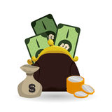 Money icon design Royalty Free Stock Images