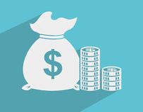 Money icon Stock Photography
