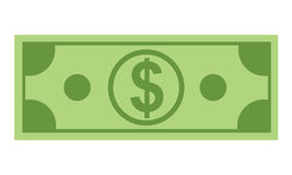 Money icon with flat and minimalism color style design Stock Image