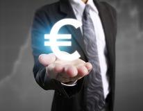 Money icon in hand. Money concept stock image