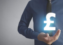Money icon in hand Royalty Free Stock Photos