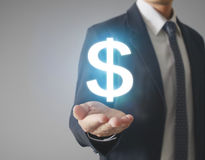 Money icon in hand. Money concept Royalty Free Stock Images