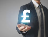 Money icon in hand Royalty Free Stock Photo
