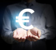 Money icon in hand Royalty Free Stock Image
