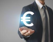 Money icon in hand Stock Photo