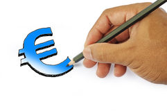 Money icon by hand drawing on white back ground Royalty Free Stock Photos