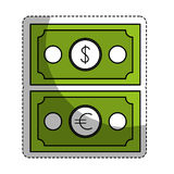 Money icon image. Cash money bills icon image  illustration design Royalty Free Stock Photography