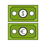 Money icon image. Cash money bills icon image  illustration design Stock Photo