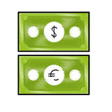 Money icon image. Cash money bills icon image  illustration design Stock Photos