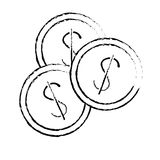 Money icon image. Money coins  icon image  illustration design Stock Photos