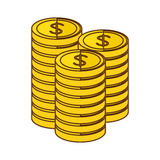 Money icon image. Money coins  icon image  illustration design Royalty Free Stock Photos
