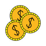 Money icon image. Money coins  icon image  illustration design Royalty Free Stock Images