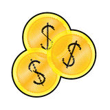 Money icon image. Money coins  icon image  illustration design Royalty Free Stock Photo
