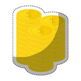 Money icon image. Money coins  icon image vector illustration design Stock Photos