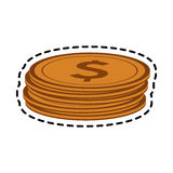 Money icon image. Coins money icon image vector illustration design Stock Image
