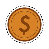 Money icon image. Coins money icon image vector illustration design Royalty Free Stock Photos