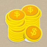 Money icon isolated on background royalty free stock photography