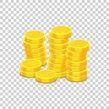 Money icon on isolated background. Coins vector illustration in Royalty Free Stock Image