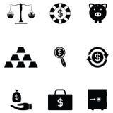 Money icon set. The money of icon set Royalty Free Stock Photo