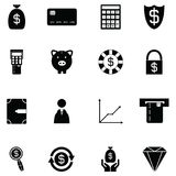 Money icon set. The money of icon set Stock Image