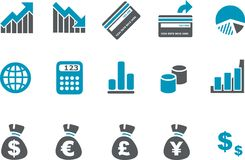 Money icon set Royalty Free Stock Photography