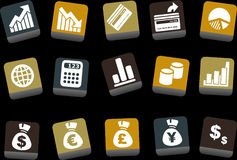 Money icon set Stock Photo
