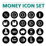 Money icon set. Money & bank icons Vector illustration Royalty Free Stock Image