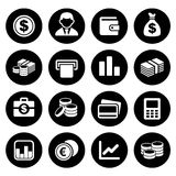 Money icon set Stock Image