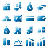 Money icon set Stock Photography