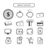 Money icon set dollar  Stock Photos