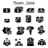 Money icon set in flat style. Vector illustration graphic design Royalty Free Stock Photos