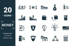 Free Money Icon Set. Include Creative Elements Money Notes, Coins, Money Graphic Up, Wallet Charge, Money Time Icons. Can Be Used For Stock Photo - 176529770