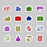 Money icon set. Vector color money icon set Royalty Free Stock Image