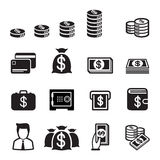 Money icon set Royalty Free Stock Image