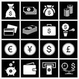 Money icon set. Vector Royalty Free Stock Image