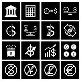 Money icon set. Vector Royalty Free Stock Photos