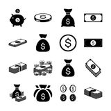 Money icon set. Vector Stock Images