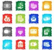 Money icon set Royalty Free Stock Image