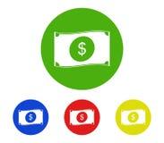 Money icon set. On white background royalty free stock photography