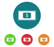 Money icon set. On white background stock image
