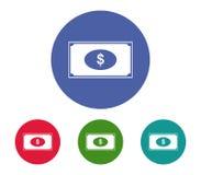 Money icon set. On white background Royalty Free Stock Image