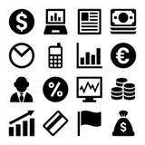 Money icon set. On White background. Vector Stock Image