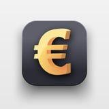Money icon. Symbol of Gold Euro Royalty Free Stock Photo