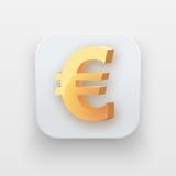 Money icon. Symbol of Gold Euro Stock Photography