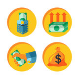 Money icon vector set Royalty Free Stock Photo