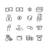 Money icon, vector Royalty Free Stock Images