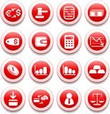 Money icons. Money vector iconset, red style Royalty Free Stock Images