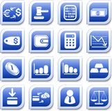 Money icons. Money  iconset, blue style Stock Image